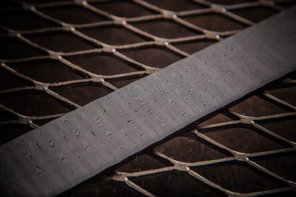 Basketweave Damascus Steel Billet