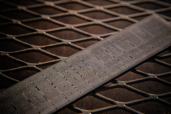 Damascus steel patterns from Vegas Forge - Ladder