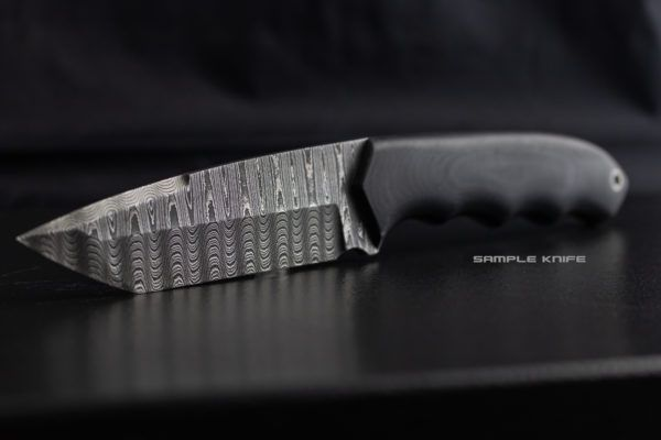 Stainless Ladder Damascus Knife